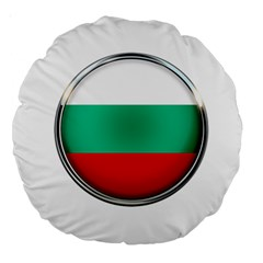 Bulgaria Country Nation Nationality Large 18  Premium Round Cushions