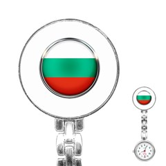 Bulgaria Country Nation Nationality Stainless Steel Nurses Watch