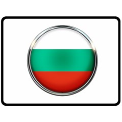 Bulgaria Country Nation Nationality Double Sided Fleece Blanket (large)
