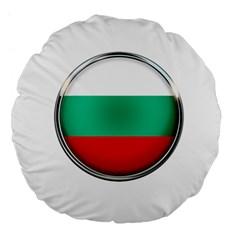 Bulgaria Country Nation Nationality Large 18  Premium Flano Round Cushions