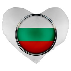 Bulgaria Country Nation Nationality Large 19  Premium Flano Heart Shape Cushions