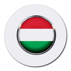 Hungary Flag Country Countries Round Mousepads