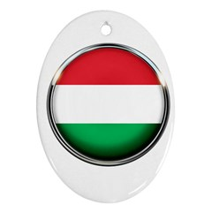 Hungary Flag Country Countries Ornament (oval)