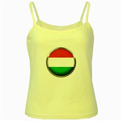 Hungary Flag Country Countries Yellow Spaghetti Tank
