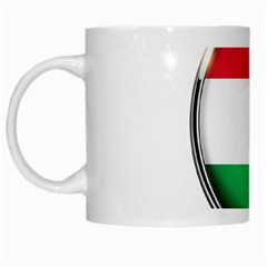 Hungary Flag Country Countries White Mugs