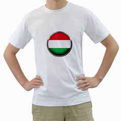 Hungary Flag Country Countries Men s T Shirt (white) (two Sided)
