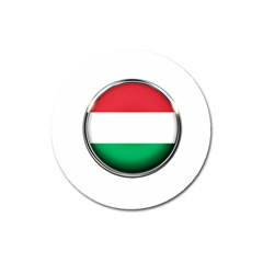Hungary Flag Country Countries Magnet 3  (round)