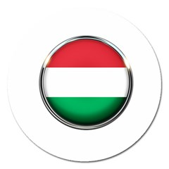 Hungary Flag Country Countries Magnet 5  (round)