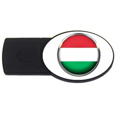 Hungary Flag Country Countries Usb Flash Drive Oval (2 Gb)