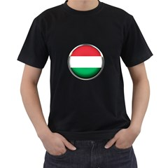 Hungary Flag Country Countries Men s T Shirt (black) (two Sided)