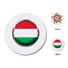Hungary Flag Country Countries Playing Cards (round)