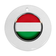 Hungary Flag Country Countries Round Ornament (two Sides)