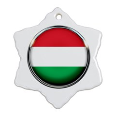 Hungary Flag Country Countries Ornament (snowflake)
