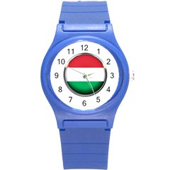 Hungary Flag Country Countries Round Plastic Sport Watch (s)