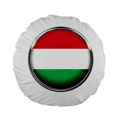 Hungary Flag Country Countries Standard 15  Premium Round Cushions