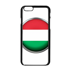 Hungary Flag Country Countries Apple Iphone 6/6s Black Enamel Case