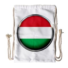 Hungary Flag Country Countries Drawstring Bag (large)