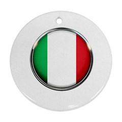 Italy Country Nation Flag Ornament (round)