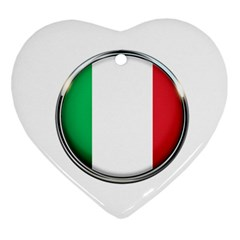Italy Country Nation Flag Ornament (heart)