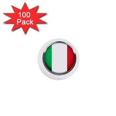 Italy Country Nation Flag 1  Mini Buttons (100 Pack)