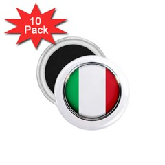 Italy Country Nation Flag 1 75  Magnets (10 Pack)