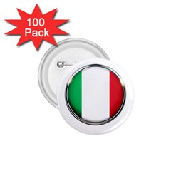 Italy Country Nation Flag 1 75  Buttons (100 Pack)