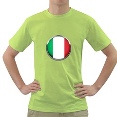 Italy Country Nation Flag Green T Shirt