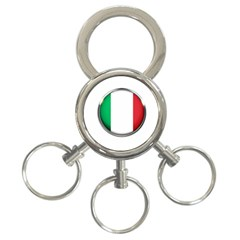 Italy Country Nation Flag 3 Ring Key Chains