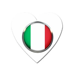 Italy Country Nation Flag Heart Magnet