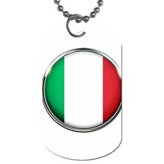 Italy Country Nation Flag Dog Tag (one Side)