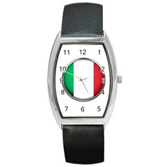 Italy Country Nation Flag Barrel Style Metal Watch