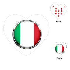 Italy Country Nation Flag Playing Cards (heart)