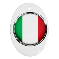 Italy Country Nation Flag Oval Ornament (two Sides)