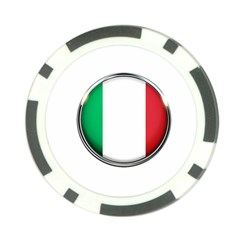 Italy Country Nation Flag Poker Chip Card Guard by Nexatart