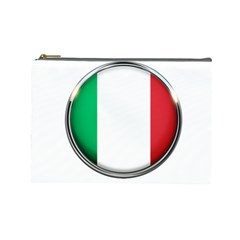 Italy Country Nation Flag Cosmetic Bag (large)