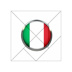 Italy Country Nation Flag Acrylic Tangram Puzzle (4  X 4 ) by Nexatart