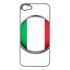Italy Country Nation Flag Apple Iphone 5 Case (silver)