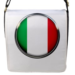 Italy Country Nation Flag Flap Messenger Bag (s)