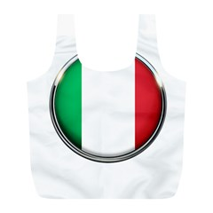 Italy Country Nation Flag Full Print Recycle Bags (l)