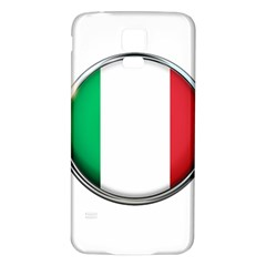Italy Country Nation Flag Samsung Galaxy S5 Back Case (white)