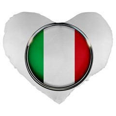 Italy Country Nation Flag Large 19  Premium Flano Heart Shape Cushions