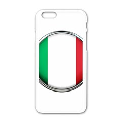 Italy Country Nation Flag Apple Iphone 6/6s White Enamel Case