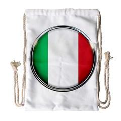 Italy Country Nation Flag Drawstring Bag (large)