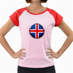 Iceland Flag Europe National Women s Cap Sleeve T Shirt