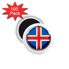 Iceland Flag Europe National 1 75  Magnets (100 Pack)
