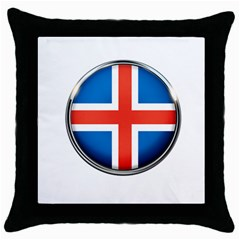 Iceland Flag Europe National Throw Pillow Case (black)
