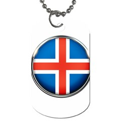 Iceland Flag Europe National Dog Tag (one Side)