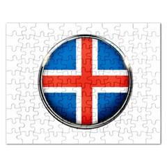 Iceland Flag Europe National Rectangular Jigsaw Puzzl