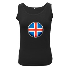 Iceland Flag Europe National Women s Black Tank Top