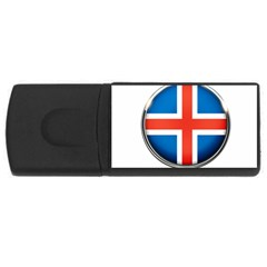 Iceland Flag Europe National Rectangular Usb Flash Drive by Nexatart